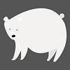 Polar bear png diary sticker white cute wild animal illustration for kids