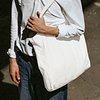 Plain white png eco bag mockup