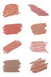 Rose gold glitter and pink metallic shade brush strokes