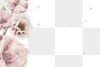 Pink cherry blossom and peony flower branch border frame on transparent background