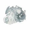 Blue acrylic brush stroke transparent png