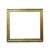 Gold picture frame mockup transparent png