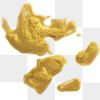 Metallic yellow paint strokes collection transparent png