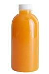 Fresh organic orange juice in bottle design element