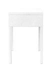 White bedside table design element