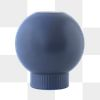 Blue ornamental ball design element