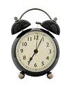 Vintage black analog clock design element