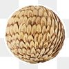 Natural wooden ball covered in wooden chips design element