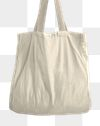 Png canvas tote bag mockup in minimal style