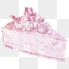 Pink holographic blueberry cheesecake design element