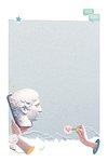 Aesthetic png online dating frame blue Greek god statue