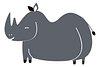 Rhino png animal sticker doodle cartoon for kids
