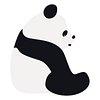 Panda png animal sticker doodle cartoon for kids