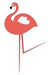 Flamingo png animal sticker pink doodle cartoon for kids