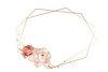 Golden floral frame design element