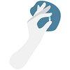 Hand holding a pill transparent png