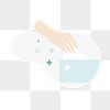 Hand picking a paper tissue from the box transparent png