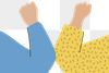 People doing the elbow bump to avoid coronavirus transparent png