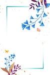 Png ginkgo leaf on blue frame