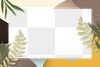 Rectangle leaves nature frame png