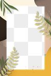 Rectangle nature foliage frame png