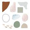 Neutral watercolor element set transparent png