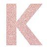 Glitter capital letter K sticker transparent png
