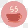 Instagram story highlight hot drink icon transparent png