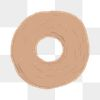 Hand drawn donut element png cute sticker