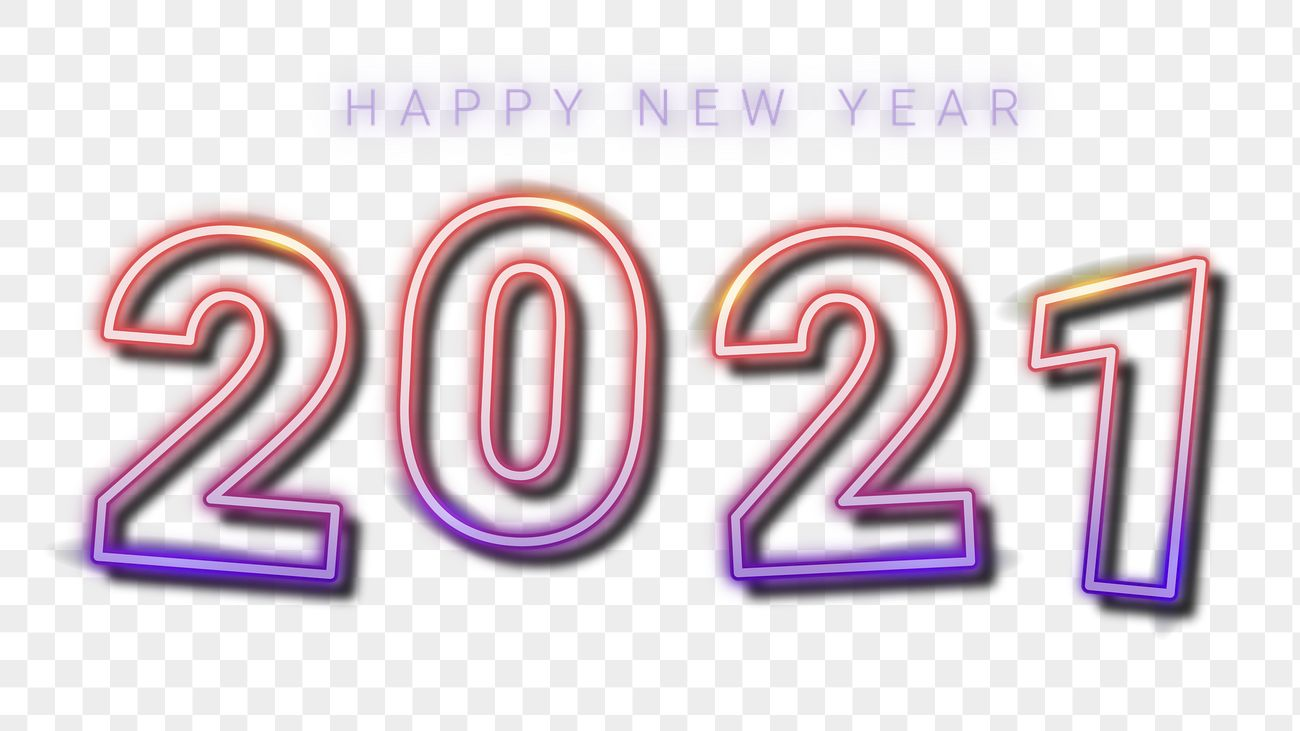 2021 Happy New Year gradient neon png   Royalty free stock ...