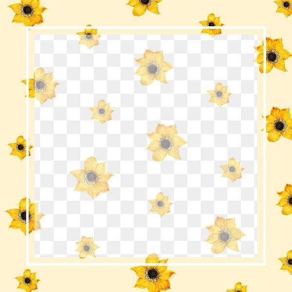 rectangle frame on vintage yellow flower background design element free transparent png 2451278 rectangle frame on vintage yellow