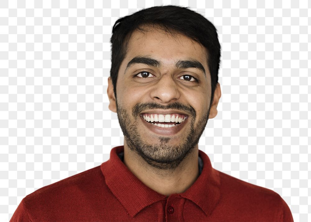 Cheerful young man transparent png