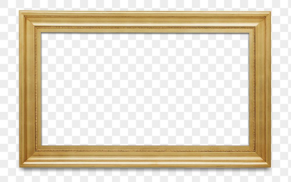Wooden picture frame mockup transparent png