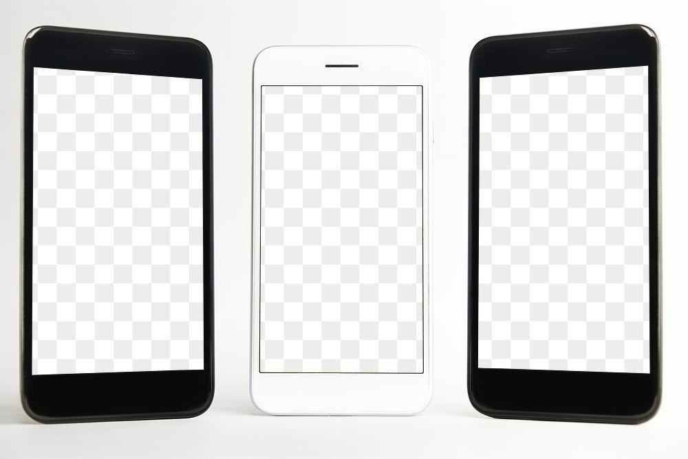 High quality mobile phone mockup design transparent png
