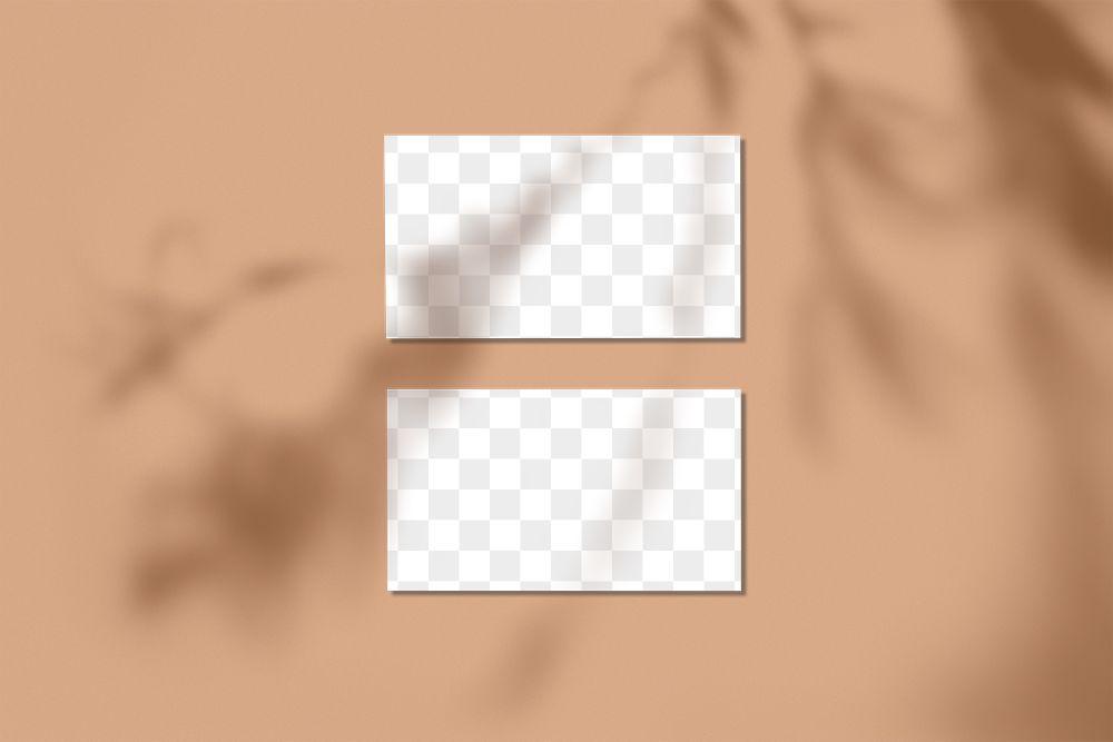 Name card mockup transparent png