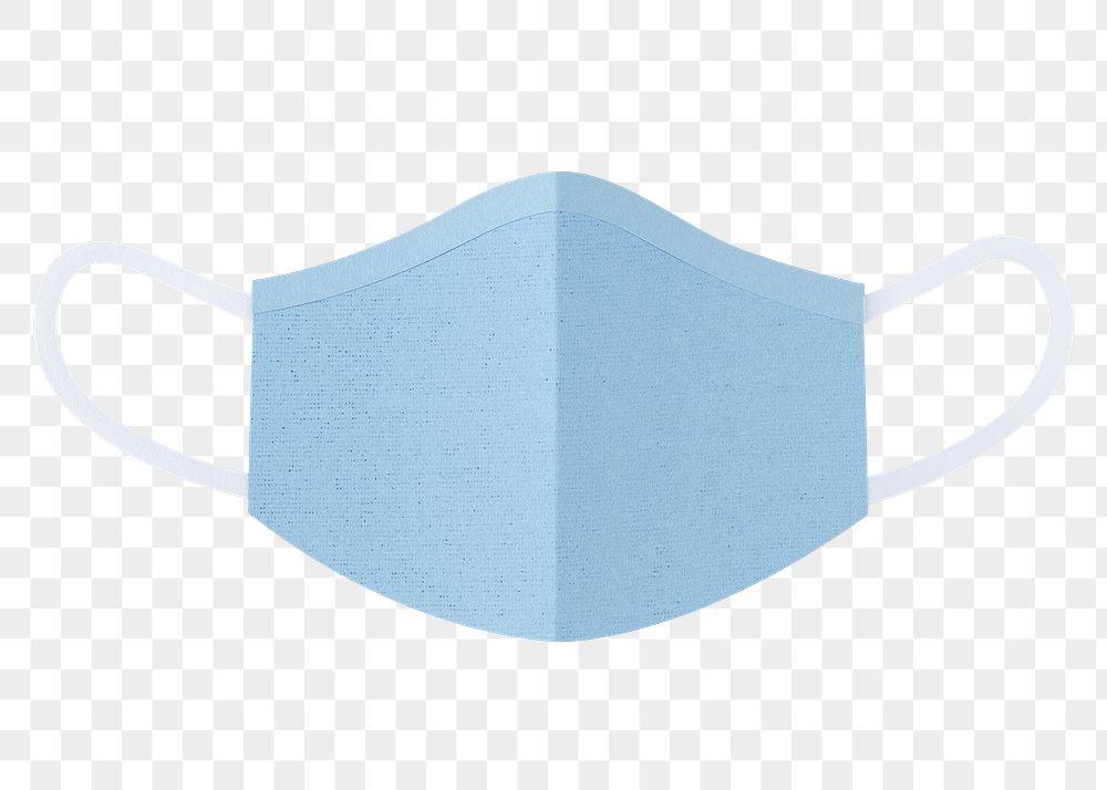Paper craft surgical mask element transparent png