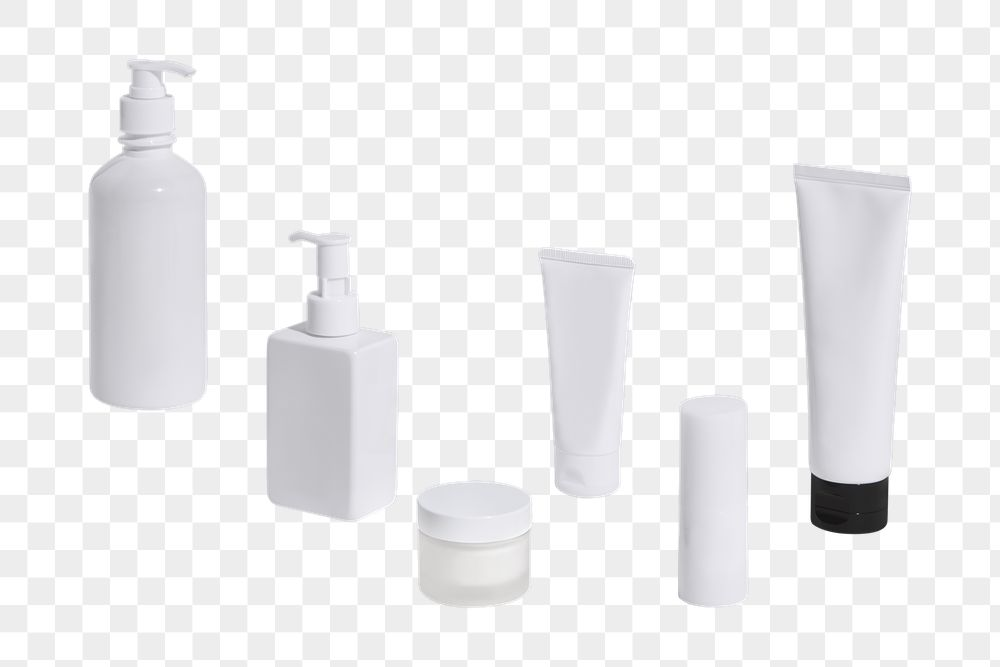White beauty products packaging design element
