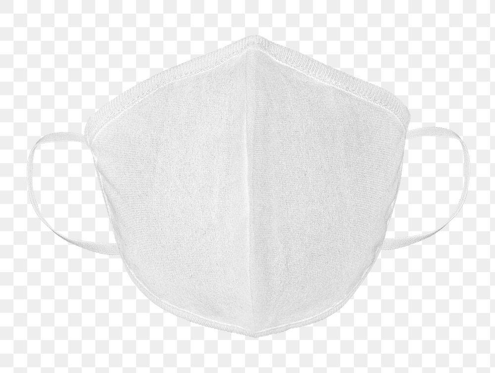 White protective cloth mask design element