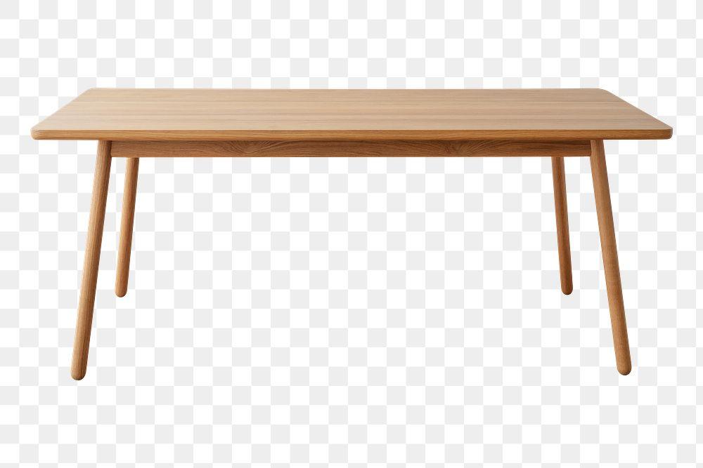 Brown wooden table design element