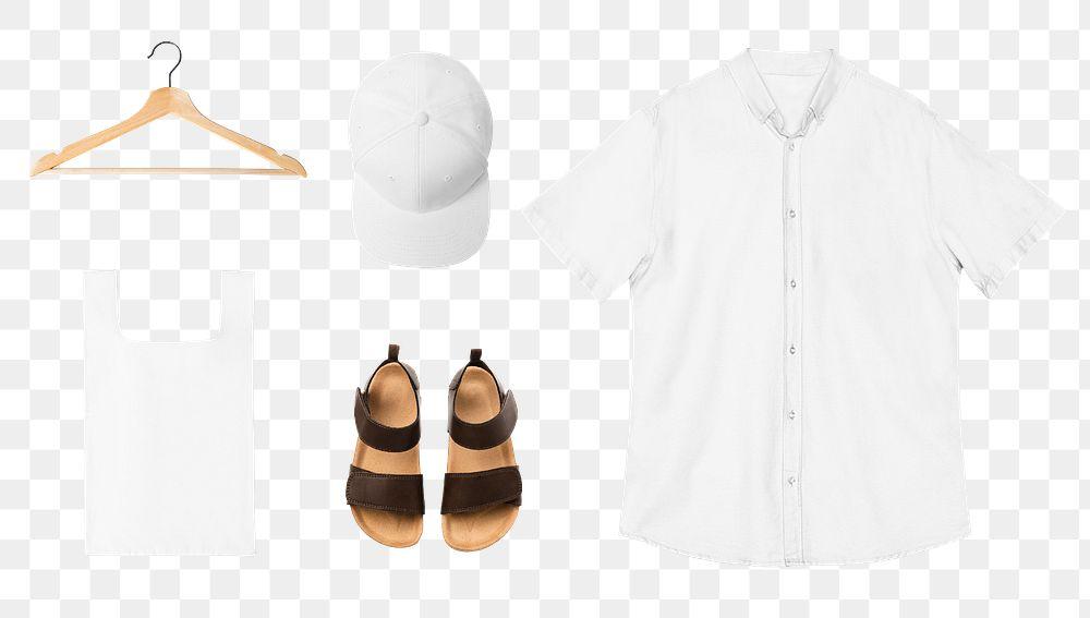 Png casual men's apparel mockup