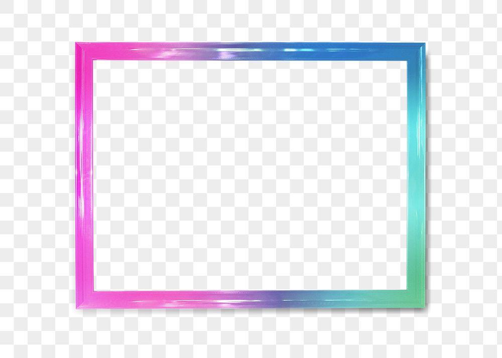 Ombre photo frame mockup