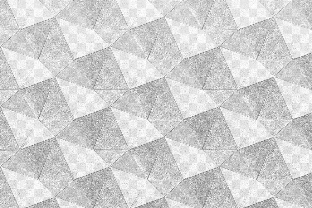 3D gray paper craft heptagonal patterned background design element
