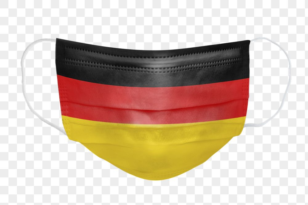 German flag pattern on a face mask