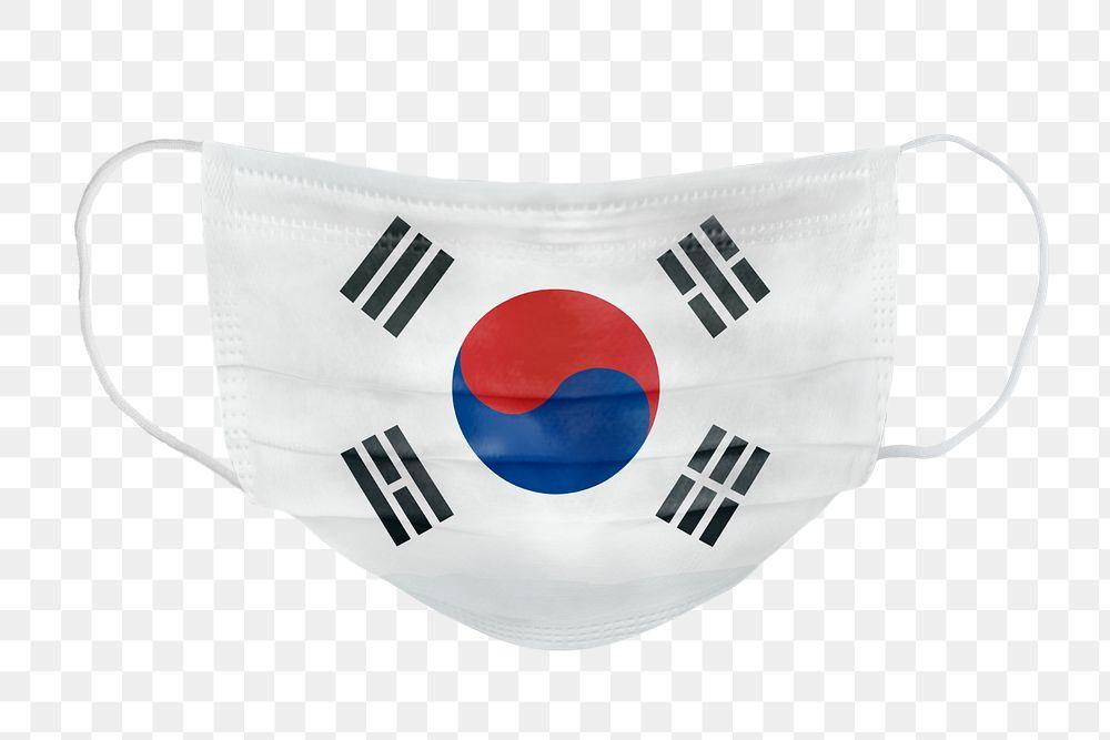 South Korean flag pattern on a face mask mockup