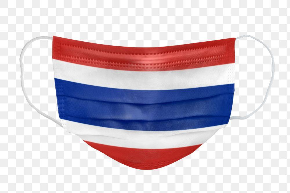 Thai flag pattern on a face mask mockup