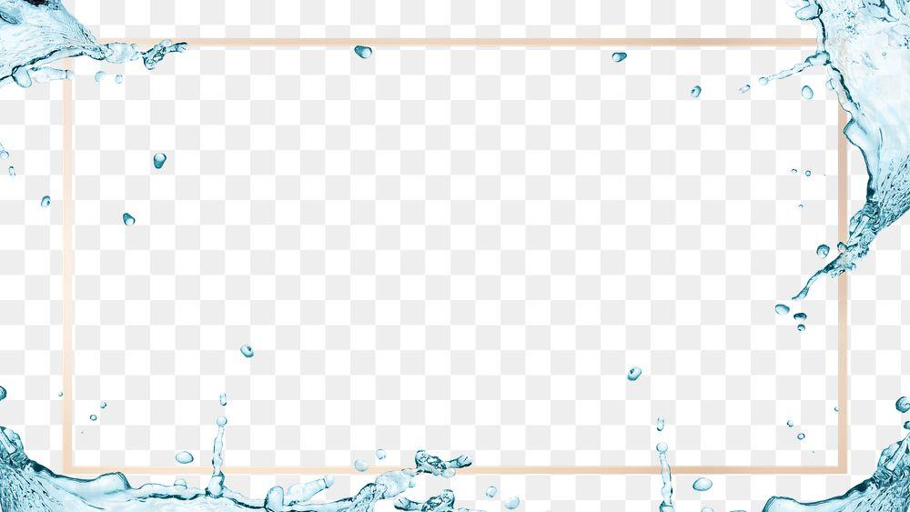 Water splashing frame design element