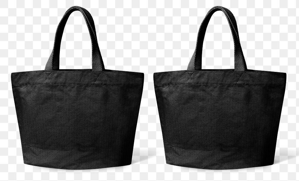 Png black tote bag mockup
