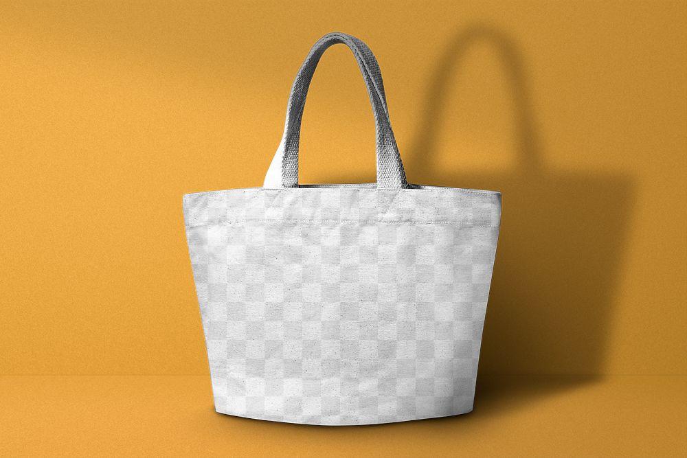 Tote bag tranparent mockup png fashion style