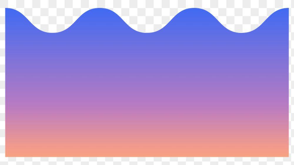 Colorful wave gradient element