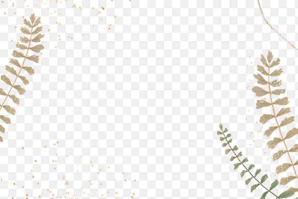 Png leaves glitter frame design